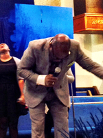 Pastor Rhone in Worship